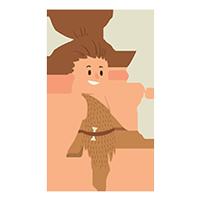 Femme de la préhistoire - miniature